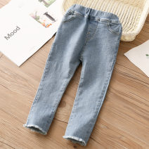 trousers Shell element female 90cm,100cm,110cm,120cm,130cm,140cm,150cm blue spring and autumn trousers fresh No model Jeans Don't open the crotch kzd002 Class B 2, 3, 4, 5, 6, 7, 8, 9, 10, 11, 12, 13, 14 years old