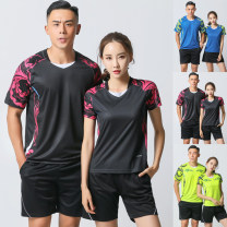 Badminton wear Men's blue suit, men's green suit, men's black suit, women's blue suit, women's green suit, women's black suit female M. L, XL, XXL, XXXL, larger Naimai Football suit