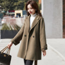 woolen coat Winter 2020 S M L other 95% and above routine Long sleeves commute double-breasted other stand collar Solid color Cape type Simplicity Kabushuan 25-29 years old Other 100% Pure e-commerce (online only)