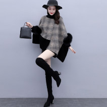 woolen coat Winter 2020 M L XL XXL Picture color other 95% and above have cash less than that is registered in the accounts Long sleeves commute other routine Crew neck lattice Cape type Korean version YJLYQWK329198 Kabushuan 30-34 years old Splicing Tweed Other 100% Pure e-commerce (online only)