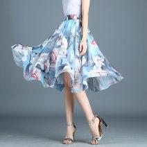 skirt Summer of 2019 Average size 02 03 05 06 07 08 09 11 12 13 Middle-skirt High waist Pleated skirt Broken flowers More than 95% Basharaqi other Other 100%