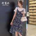 Dress Spring 2020 White (2-piece set) black (2-piece set) S M L XL XXL Short skirt Two piece set commute High waist 25-29 years old Caidaifei Korean version ZBT0022 More than 95% polyester fiber Polyester 100%