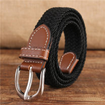 Belt / belt / chain canvas female belt Versatile Single loop Middle age, youth, youth Pin buckle other soft surface 2.5cm alloy 100cm