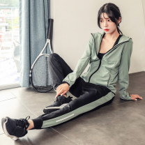 Casual suit Autumn of 2019 S M L XL 18-25 years old Aluse Polyethylene terephthalate ( polyester fiber ) eighty-four %  Polyurethane elastic fiber ( spandex ) sixteen % Pure e-commerce (online only)