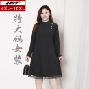 Women's large Spring 2021 black 4XL is suitable for 115cm (recommended 160-180kg) 6xl is suitable for 125cm (recommended 180-220kg) 8xl is suitable for 135cm (recommended 220-240kg) 10xl is suitable for 145cm (recommended 240-280kg) Dress singleton  commute Self cultivation moderate Socket Ol style