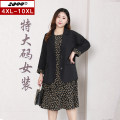 Women's large Spring 2021 Black suit floral dress black suit Dress singleton  commute easy moderate Socket Long sleeves Plants and flowers Korean version square neck Medium length polyester Three dimensional cutting routine 20227T 25-29 years old 96% and above Medium length Polyester 100%