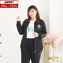 Women's large Spring 2021 black 4XL is suitable for 115cm (recommended 160-180kg) 6xl is suitable for 125cm (recommended 180-220kg) 8xl is suitable for 135cm (recommended 220-240kg) 10xl is suitable for 145cm (recommended 240-280kg) Jacket / jacket singleton  commute easy moderate Cardigan Crew neck