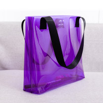 Bag The single shoulder bag PVC Tote Bag Fklr / fankeri brand new Japan and South Korea large travel hard Exposure no Solid color Double root One shoulder hand nothing youth Horizontal square candy Soft handle Open your pocket Spring of 2019 Same model in shopping mall (sold online and offline)