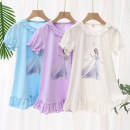 Home skirt / Nightgown Osmunda japonica 100cm,110cm,120cm,130cm,140cm Cotton 95% polyurethane elastic fiber (spandex) 5% Purple, blue, white, purple long sleeve, white long sleeve, blue long sleeve Four seasons female 2, 3, 4, 5, 6, 7, 8, 1-3, 9, 3-5, 5-7, 7-9 Expel dampness and absorb sweat at home