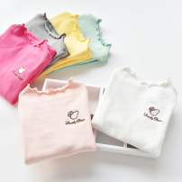 T-shirt White, pink, gray, rose, yellow Ashkelira 100cm,110cm,120cm,130cm,140cm female spring and autumn Long sleeves Crew neck Simplicity No model nothing cotton Solid color Cotton 95% bamboo fiber 5% Class B Sweat absorption Two, three, four, five, six, seven, eight, nine Chinese Mainland