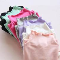 T-shirt White, gray, purple, black, shrimp powder Osmunda japonica 100cm,110cm,120cm,130cm,140cm,150cm,160cm female spring and autumn Long sleeves High collar Korean version There are models in the real shooting nothing cotton Solid color Cotton 95% bamboo fiber 5% Class B other Chinese Mainland