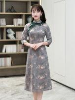 cheongsam Spring 2021 S M L XL XXL R361 R18FR361 Ruyifeng polyester fiber Polyester 97% polyurethane elastic fiber (spandex) 3%