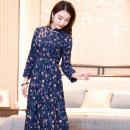 Dress Spring 2020 S M L XL XXL Mid length dress Long sleeves 35-39 years old Ruyifeng More than 95% cotton Cotton 100% Pure e-commerce (online only)