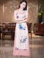 cheongsam Summer 2020 S M L XL XXL R023 long cheongsam ethnic style Oblique lapel Decor R18FR023 Ruyifeng polyester fiber Polyester 98% polyurethane elastic fiber (spandex) 2% Pure e-commerce (online only)
