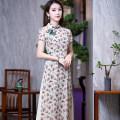 cheongsam Summer 2020 S M L XL XXL R024 Short sleeve long cheongsam ethnic style High slit R18FR024 Ruyifeng polyester fiber Polyester 100% Pure e-commerce (online only)