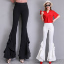 Casual pants White, black S,M,L,XL,2XL Spring 2021 trousers Flared trousers low-waisted Versatile Thin money 18-24 years old N68 pocket