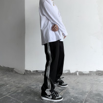 Casual pants Others Youth fashion black S,M,L,XL routine trousers Other leisure Straight cylinder Micro bomb Four seasons tide middle-waisted Tapered pants cotton