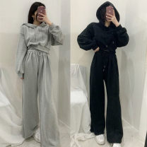 Fashion suit Spring 2021 S,M,L,XL Gray, black 18-25 years old 96% and above cotton