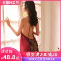 Nightdress A man in love M L sexy camisole pajamas Short skirt summer Solid color youth V-neck Polyester (polyester) Hollowing out More than 95% Summer 2020 Polyester fiber 97.1% polyurethane elastic fiber (spandex) 2.9%