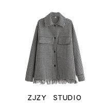shirt houndstooth  S,M,L Spring 2021 other 51% (inclusive) - 70% (inclusive) Long sleeves street Regular Europe and America