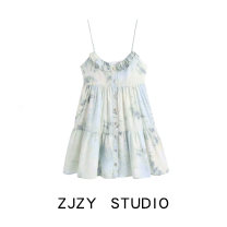 Dress Spring 2021 tie-dyed XS,S,M,L Middle-skirt singleton  Sleeveless street Europe and America