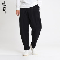 Casual pants the earth other Black and white 165 / s 170 / M 175 / L 180 / XL 185 / XXL accurate code selection method, please ask customer service trousers Other leisure easy Chinese style Cotton 98% polyurethane elastic fiber (spandex) 2% cotton Autumn of 2019 More than 95%