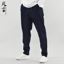 Casual pants the earth other Black blue Khaki 165 / s 170 / M 175 / L 180 / XL 185 / XXL accurate code selection method, please ask customer service trousers Other leisure easy 91012-213 Chinese style Cotton 94% polyurethane elastic fiber (spandex) 6% Autumn of 2019