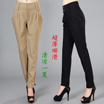 Casual pants Black Khaki XS S M L XL 2XL 3XL Spring 2021 Ninth pants Haren pants Natural waist commute Thin money 81% (inclusive) - 90% (inclusive) M3000-2335 Modern cat nylon lady pocket nylon Polyester 100% Pure e-commerce (online only) Asymmetry