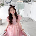 Dress Pink (early April), blue (mid April), pink (late April of the second batch) female Other / other 90cm,100cm,110cm,120cm,130cm,140cm,150cm Other 100% princess other other Princess Dress