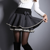 skirt Autumn 2020 S (for 1-8-2 feet), m (for 2-1-2-3 feet), l (for 2-3-2-5 feet) Black, gray, rose black, lotus gray, lotus black Short skirt commute High waist Cake skirt Dot Type A 25-29 years old SC801 Light tweed other Bow, ruffle, pleat, three-dimensional decoration Korean version