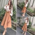 Dress Autumn 2020 Picture color S,M,L,XL,XXL Two piece set commute Crew neck High waist Socket Irregular skirt Retro