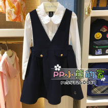 Dress Navy Blue female Other / other 105cm,110cm,120cm,130cm,140cm,150cm Other 100% Two, three, four, five, six, seven, eight, nine