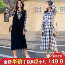 Women's large Spring 2020 S [chubby girl dress] m [small flying sleeve dress] l [hip covering skirt shows thin and medium length] XL [celebrity suit age reducing foreign style] 2XL [celebrity little fragrance suit foreign style] 3XL [dress 2020 new early spring] 4XL [best friend suit sister dress]