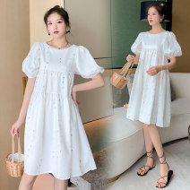 Dress Other / other Collection and purchase ⭐ Priority delivery, picture color M,L,XL,XXL Korean version Short sleeve Medium length summer Decor polyester