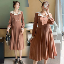 Dress Other / other Camel, black, collection and purchase ⭐ Priority delivery M,L,XL,XXL Korean version Long sleeves Medium length autumn