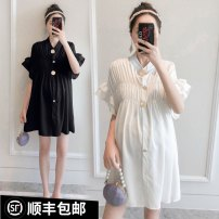 Shirt / Chiffon Short sleeve Other / other M,L,XL,XXL Solid color Korean version summer