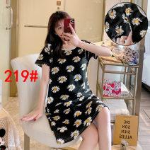 Nursing clothes black M,L,XL,2XL Other / other zipper summer Short sleeve Cartoon animation cotton