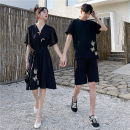 Dress Summer 2021 Women's dress, men's top, men's shorts, men's set [top + shorts] S. M, l, XL, 2XL, 3XL, the same quality of tmall Middle-skirt singleton  Short sleeve commute V-neck High waist lattice Socket A-line skirt routine Others 18-24 years old Type A Other / other Korean version other