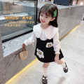 suit Mikir / mikir black 90cm 100cm 110cm 120cm 130cm female spring and autumn Korean version Long sleeve + skirt 2 pieces routine There are models in the real shooting Socket nothing Solid color cotton children Expression of love MXMYC168 Class A Cotton 95% other 5% Summer 2021 Chinese Mainland