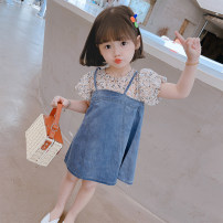 Dress Broken flowers female Mikir / mikir 80cm 90cm 100cm 110cm 120cm 130cm Cotton 95% other 5% summer Korean version Short sleeve Broken flowers cotton A-line skirt A07 Class A Summer 2021 3 months 12 months 6 months 9 months 18 months 2 years 3 years 4 years 5 years 6 years Chinese Mainland