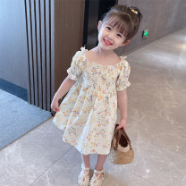 Dress Broken flowers female Mikir / mikir 90cm 100cm 110cm 120cm 130cm Cotton 95% other 5% summer Korean version Short sleeve Broken flowers cotton A-line skirt F109 Class A Summer 2021 12 months, 18 months, 2 years old, 3 years old, 4 years old, 5 years old, 6 years old Chinese Mainland