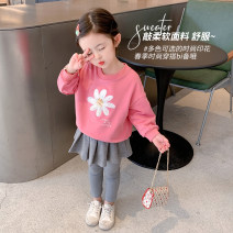 Sweater / sweater Mikir / mikir Pink west red yellow female 90cm 100cm 110cm 120cm 130cm spring and autumn nothing Korean version Socket routine There are models in the real shooting cotton Cartoon animation Cotton 95% other 5% A101 Class A Cotton liner Spring 2021