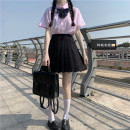 Fashion suit Summer 2021 S,M,L,XL Shirt with bow tie (single piece) , Skirt (single piece) 18-25 years old Other / other 51% (inclusive) - 70% (inclusive) cotton