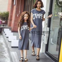 Dress grey THEJODY female M L 110cm 120cm 130cm 140cm 150cm 160cm Cotton 95% other 5% summer princess Skirt / vest cotton A-line skirt BW-A1814 Class B