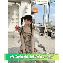 Fashion suit Summer 2021 S,M,L Top, skirt, top + skirt Q9987 96% and above cotton