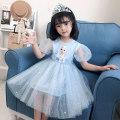 Dress female Other 100% summer princess Short sleeve Cartoon animation cotton Splicing style Class B 18 months, 2 years old, 3 years old, 4 years old, 5 years old, 6 years old, 7 years old Chinese Mainland