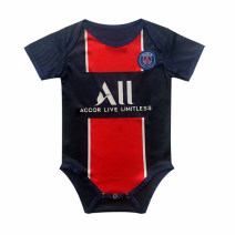Football clothes Paris home baby 2, name and number leave word XXXS,XXS children N98 Short sleeve football suit