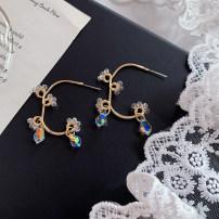 Ear Studs Alloy / silver / gold 10-19.99 yuan Shanzi Earrings with skirt 925 silver needle ak88