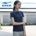 Sports T-shirt Erke / hongxingerke S M L XL 2XL 3XL Short sleeve female Crew neck routine UV resistant and breathable Summer of 2018 Sports & Leisure Sports life yes