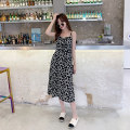 Dress Summer 2021 Suspender skirt, long sleeve skirt S. M, l, XL, [free shipping insurance for today's order], [original customization / authentic product guarantee], [add shopping cart in advance, surprise!! 】 Mid length dress singleton  Sleeveless commute V-neck middle-waisted Solid color Socket